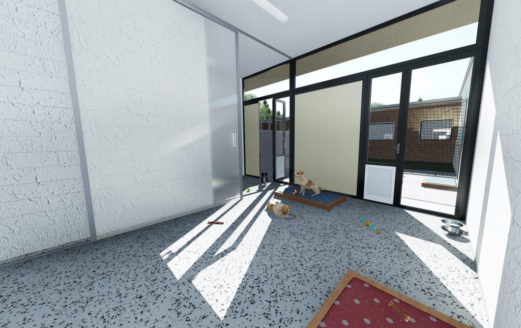 Hundehaus 1 Innenansicht Hundebox
