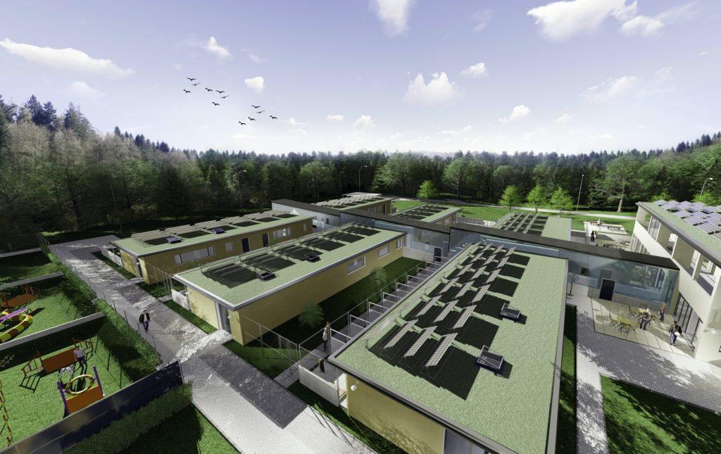Vogelperspektive des neuen Berner Tierzentrums