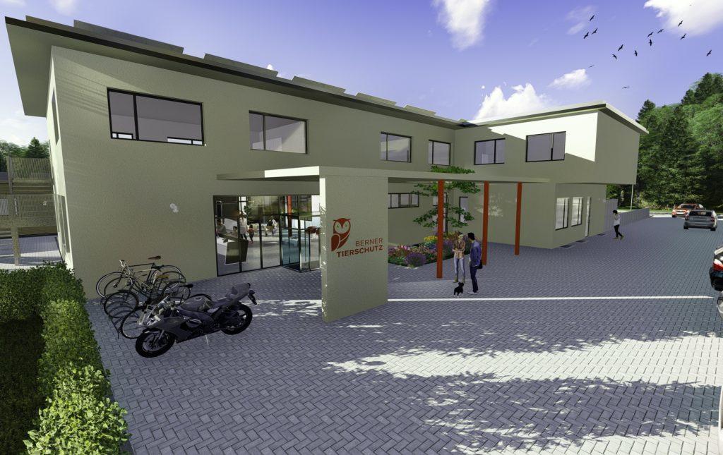 Haupteingang des neuen Berner Tierzentrums